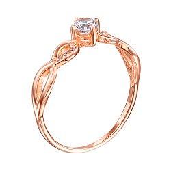 Кольцо из красного золота Синди с фианитами