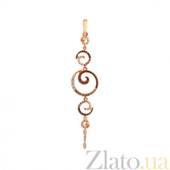 Кулон из красного золота Грация с цирконием VLT--ТТТ3430-2