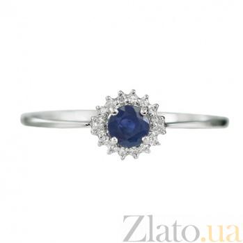 Золотое кольцо с сапфиром и бриллиантами Мартина 000026852