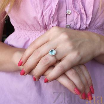 Серебряное кольцо с фианитами и альпинитом Атлантида PTL--7к704/96