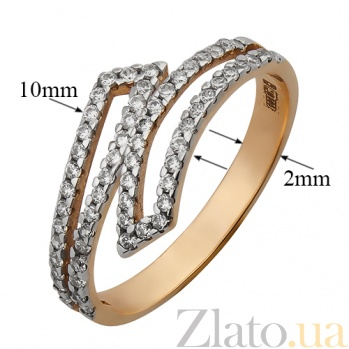 Кольцо из красного золота с фианитами Делора SVA--1658771/Фианит/Цирконий