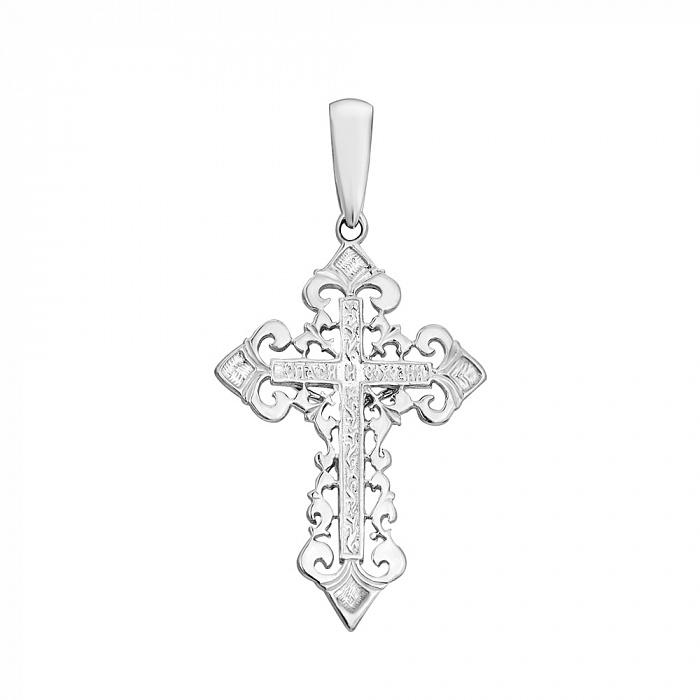 Серебряный ажурный крестик Светлые небеса 000030709