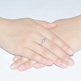 Кольцо из белого золота с бриллиантом Noor