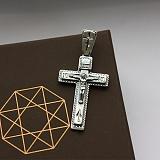 Крестик из серебра Силы Небесные ІНЦІ ІС ХС с чернением