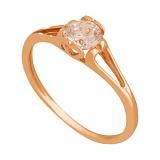 Золотое кольцо Влюбленность с цирконием