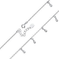 Серебряный браслет с подвесками 000124931