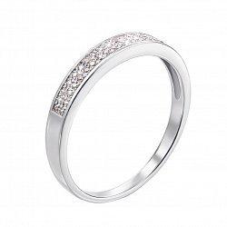 Кольцо в белом золоте с бриллиантами 000104144