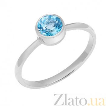 Кольцо в белом золоте Фиона с топазом 000023481