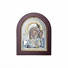 Серебряная икона Казанской Божей Матери