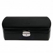 Черная шкатулка для часов WindRose Merino на 6 отделений