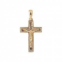 Крестик из красного золота Святое Распятие 000081377