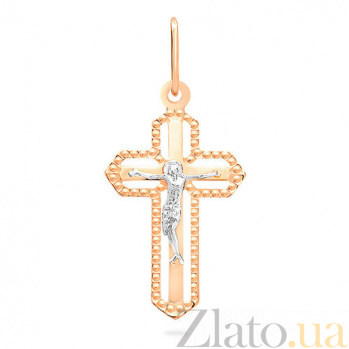 Золотой крестик Благодарность SUF--510602рш