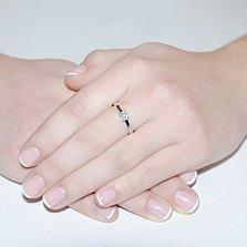 Кольцо из белого золота с бриллиантом Рапсодия любви