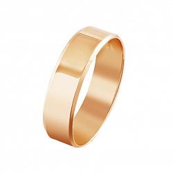 Обручальное кольцо из красного золота 000001639