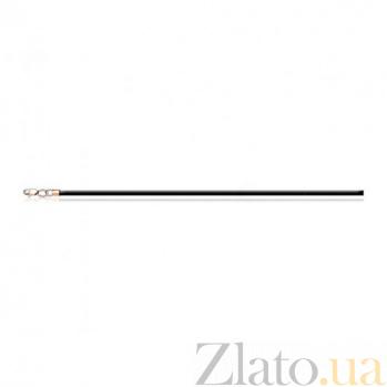 Каучуковый шнурок с карабином из красного золота Тонкая нить EDM--Ш001