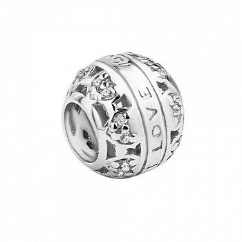 Срібний шарм з фіанітами 000116407