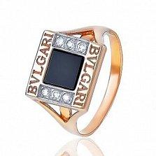 Золотое кольцо с агатом Азали