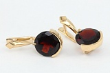 Сережки из красного золота с гранатами Клэр