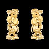 Серьги в желтом золоте Hortensia
