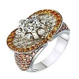 Золотое кольцо с бриллиантами Семирамида