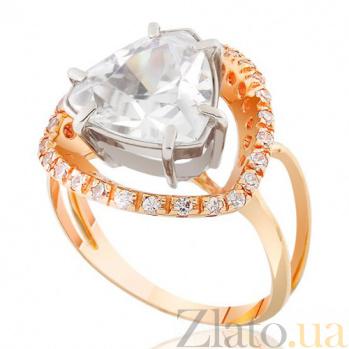 Золотое кольцо с фианитом Роскошь EDM--КД0370