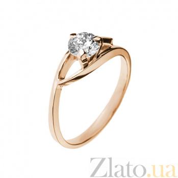 Кольцо в красном золоте Моник с бриллиантом 000079283