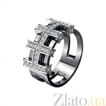 Мужское кольцо из золота с бриллиантами Аполлон KBL--К1608/бел/брил