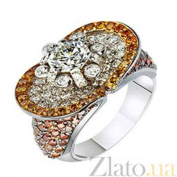 Золотое кольцо с бриллиантами Семирамида KBL--К1592/бел/брил