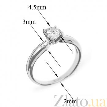 Кольцо из белого золота с бриллиантом Eleanor R0561/A03В01F02C01K02