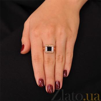 Золотое кольцо с агатом Азали EDM--КД0431