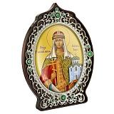 Икона латунная с образом Святой княгини Ольги