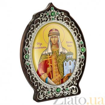 Икона латунная с образом Святой княгини Ольги 2.78.0932л