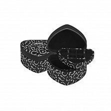 Черная шкатулка для украшений WindRose Panthera в форме сердца с животным принтом