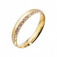 Золотое обручальное кольцо Ирен