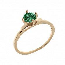 Золотое кольцо Леди с изумрудом