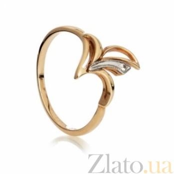Золотое кольцо с цирконием Веста 000030605