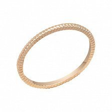Обручальное кольцо Галактика в желтом золоте