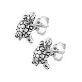 Серебряные серьги Turtle
