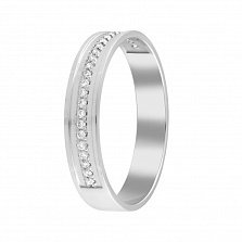 Обручальное кольцо Единственной в белом золоте с бриллиантами