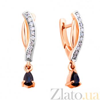 Золотые серьги с бриллиантами и сапфирами Хлоэ ZMX--EDS-6865_K