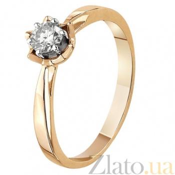 Золотое кольцо с бриллиантом Консуэлло KBL--К1902/крас/брил