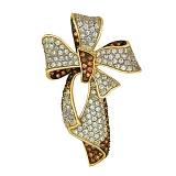 Золотаяподвеска Цветок с цирконием
