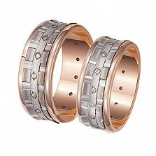 Обручальное кольцо из красного золота Идеальный стиль