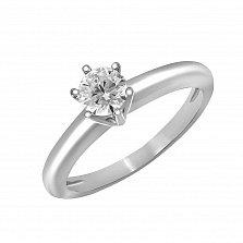 Кольцо из белого золота Свет любви с бриллиантом