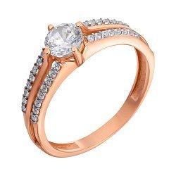 Кольцо в красном золоте Глория с фианитами 000031729