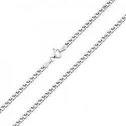 Серебряная цепь с родированием, 2 мм 000027693