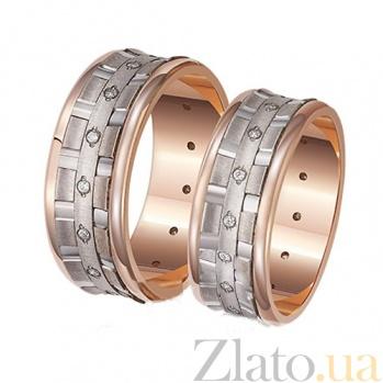 Обручальное кольцо из красного золота Идеальный стиль 1044
