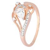 Серебряное кольцо Муджерес с фианитами и позолотой