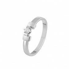 Кольцо из белого золота Соледад с бриллиантом