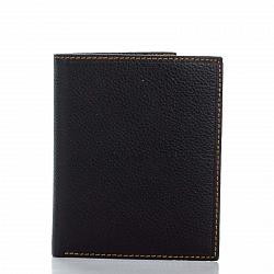 Кожаный кошелек-книжка Genuine Leather 7751 темно-коричневого цвета
